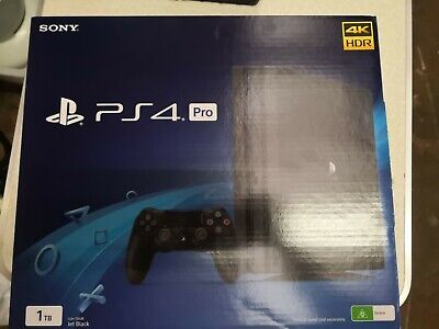 AU479.95 • Buy Sony PlayStation 4 PS4 Pro 1TB Black Console AS NEW + 5 Free Games