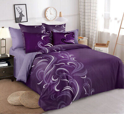 AU35 • Buy Single/KS/Double/Queen/ King Size Bed Ultra Soft Quilt Cover Set-Purple