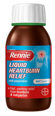 Rennie Liquid Heartburn & Indigestion Relief Oral Suspension Mint Flavour 150ml • 8.15£
