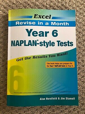 AU9 • Buy Excel Year 6 NAPLAN-Style Tests Prepare For Yr 7 Naplan Maths English 5 Pgs Used