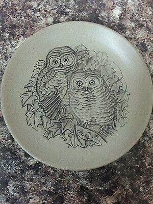 Poole Pottery Stoneware Small Plate Owls By Barbara Linley-Adams • 6£