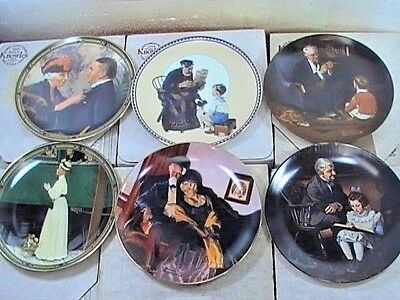 $ CDN29.10 • Buy Lot Of (6) Vintage Edwin Knowles (Norman Rockwell) Collector Plates  (12)