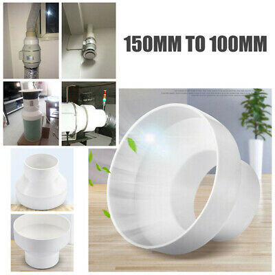 1X ABS Ventilation PVC Pipe Circular Ducting Reducer Adaptor 150mm To 100mm Home • 6.59£