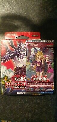 Yugioh Hero Structure Deck + Sister Of The Rose Booster Pack • 9£