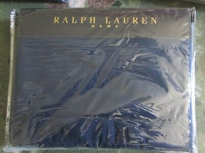 Ralph Lauren King Size Duvet Set In Indigo Modern Border • 170£