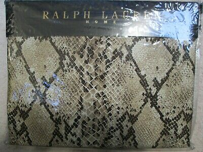 Ralph Lauren King Size Duvet Set In Oxford Mojave Python Satin Design • 210£