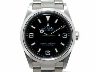 $ CDN9464.06 • Buy ROLEX Explorer 1 114270 SS Black Automatic #D066