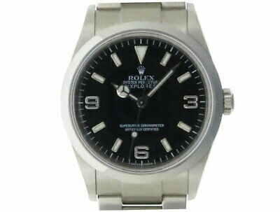 $ CDN10053.36 • Buy ROLEX Explorer 1 114270 Black SS Automatic Men's #D051