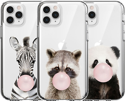 AU16.95 • Buy Silicone Cover Case Cute Baby Animal Zebra Panda Raccoon Bubble Gum