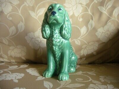 Sylvac Spaniel Large Green Dog 1462 11  High Excellent Condition • 120£