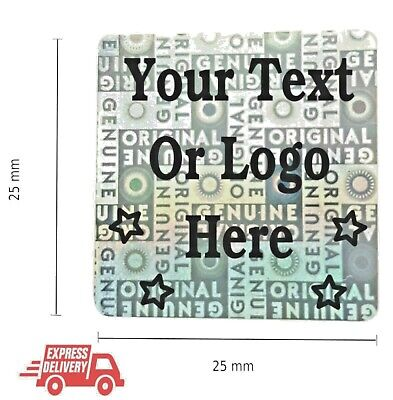 £2.47 • Buy Personalized Custom Hologram Label Sticker Warranty Void If Removed Tamper Proof