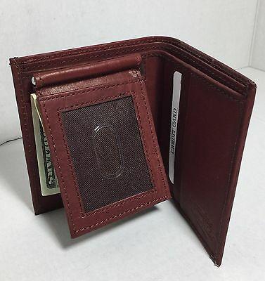 $ CDN16.32 • Buy Brand New Men Brown Flip Fold Wallet Cowhide Leather With Money Clip