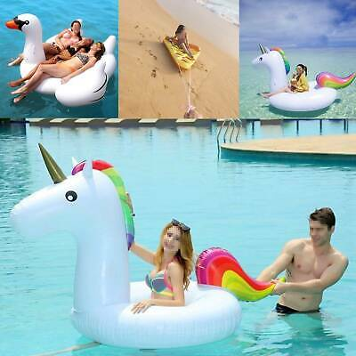 Water Float Raft Giant Inflatable Swimming Pool Lounger Beach Fun Sports Toy New • 9.49£