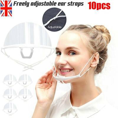 £5.99 • Buy 10xFace Shield Visor Protection Mouth Shield Safety Clear PPE Reusable Face Mask
