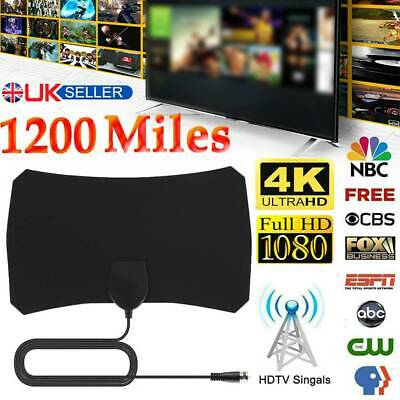 1200Miles Indoor HD Digital TV Antenna Aerial Signal Amplified 4K 1080P Freeview • 5.79£