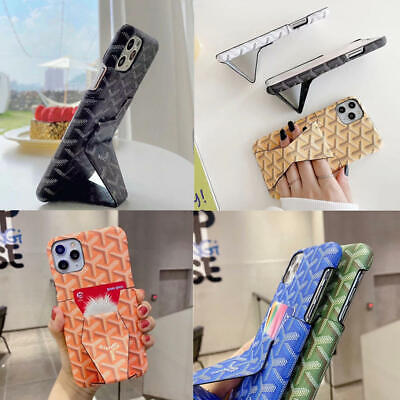 AU15.59 • Buy For IPhone 12 Pro Max Mimi 11 Pro XS XR X 8 7 Plus Case Card Holder Stand Cover