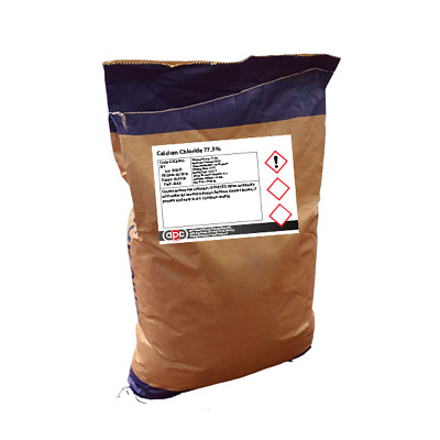 £104.05 • Buy Calcium Chloride 77.5% 25Kg *Free Shipping* *Professional Seller*