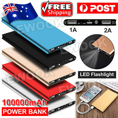 AU16.95 • Buy 100000mAh Portable External Battery Charger USB Power Bank Backup For Phones