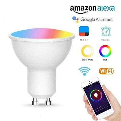 £10.99 • Buy RGBW LED GU10 Smart Spotlight 5W Color Changing Works With Alexa & Google Home