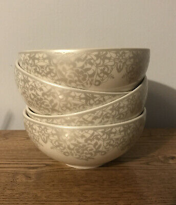 £8 • Buy Denby Monsoon Filigree Gold Cream China Cereal Bowl X1. Smaller Size. Brand New.