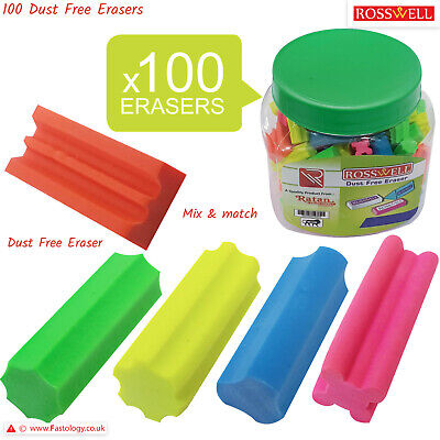 100 X Novelty Quality Rubber Pencil Erasers School Nursery Pack Party Bag Filler • 1.49£