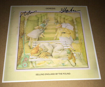 £59.99 • Buy SIGNED GENESIS SELLING ENGLAND BY THE POUND 12x12 STEVE HACKETT TONY BANKS RARE