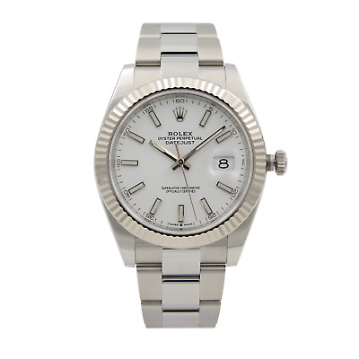 $ CDN12090.79 • Buy Rolex Datejust 41 White Gold Steel Blue Roman Dial Automatic Mens Watch 126334