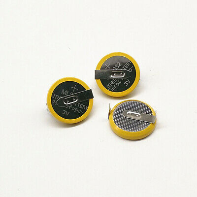 AU14.09 • Buy 2pcs ML2032 3V Button Battery With Solder Feet, Rechargeable Motherboard Battery