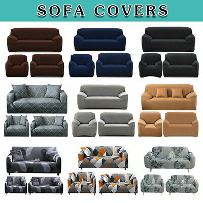 AU20.59 • Buy Sofa Covers 1/2/3 Seater Stretch Lounge Slipcover Chair Protector Couch Washable