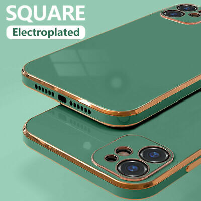 AU11.59 • Buy For IPhone 11 Pro Max XR X XS 8 7 Plus Case Plating Liquid Silicone Phone Cover