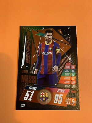 Match Attax 2020/21 Limited Edition Lionel Messi Fc Barcelona Bronze • 1.19£