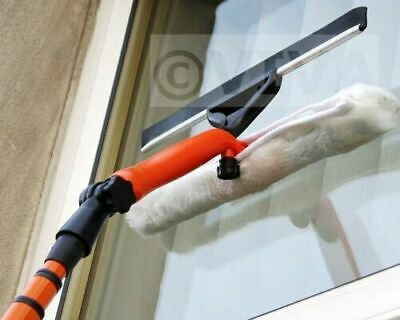 3.5m Telescopic Window Cleaner Glass Soft Cleaning Kit Equipment Squeegee • 13.99£