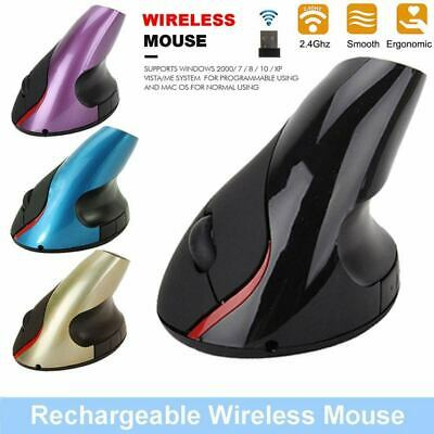 AU24.99 • Buy 2.4GHz Vertical USB Wireless Mouse Ergonomic Rechargeable Wrist Rest Gaming Mice