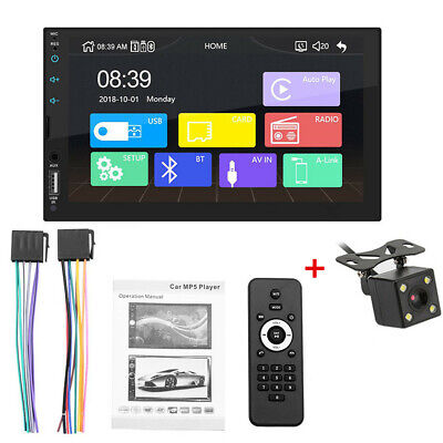 AU101.01 • Buy Car MP5 Bluetooth FM Stereo Radio Player Support Apple Carplay With 4LED Camera
