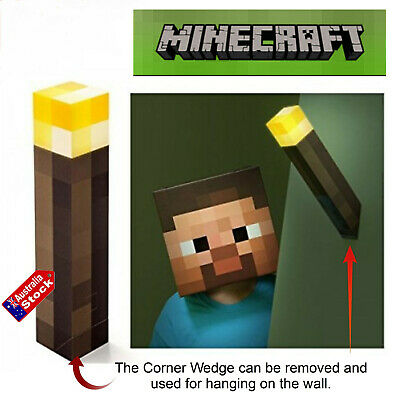 AU18.50 • Buy Minecraft Hand Held Torch Wall Light Up Night Torch Lamp Toys Video Game Led