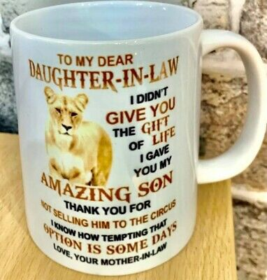 Lioness To My Dear Daughter In Law Mug Gift Ceramic 11oz Christmas Gifts • 11£