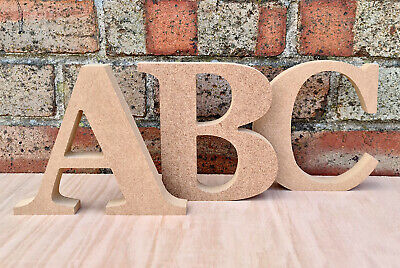 Freestanding Letters & Numbers - Georgia Bold - Wooden MDF - 200mm X 18mm • 2.50£