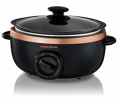 Morphy Richards 460016 Sear And Stew Slow Cooker - Black And Rose Gold • 39.50£