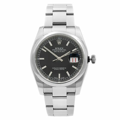 $ CDN8372.16 • Buy Rolex Datejust Roulette Date 36mm Steel Black Dial Automatic Mens Watch 116200