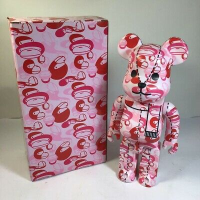 $504.99 • Buy Medicom Toy BE@RBRICK Bearbrick A Bathing Ape Bape Pink 400% Japan Limited Used