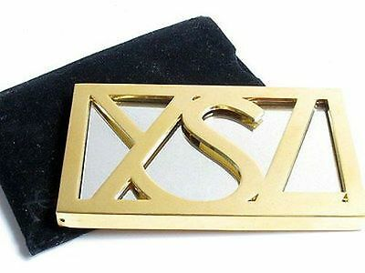 100% AUTHENTIC RARE Exclusive YSL COUTURE GOLD JEWELLED Logo PURSE TRAVEL MIRROR • 95£