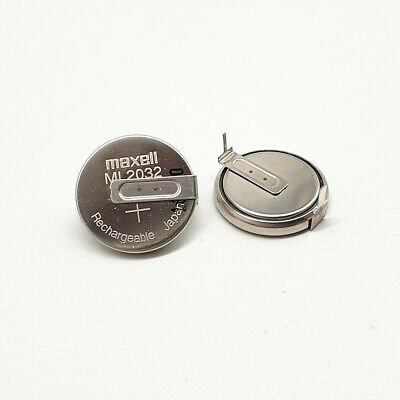 AU16.54 • Buy 3pcs Maxell ML2032 3V Rechargeable Button Battery With Solder Feet ML2032-T6