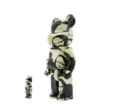 $790 • Buy Bearbrick Andy Warhol Double Mona Lisa 100% & 400%