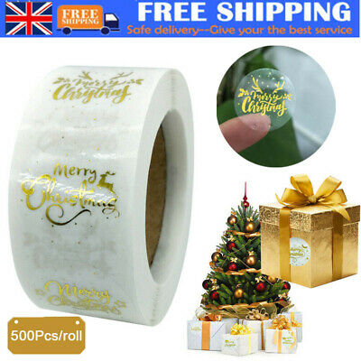 £8.39 • Buy 500Pcs/Roll Merry Christmas Gift Tags Present Stickers Xmas Present Label DIY