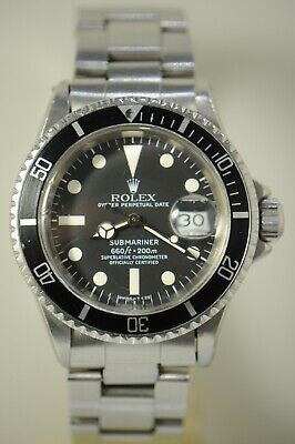 $ CDN22328.26 • Buy Rolex Vintage 1680 Ss 40mm Submariner Mens Automatic Watch W/ Service Dial