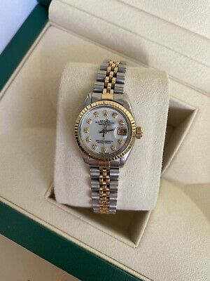 $ CDN6818.31 • Buy Ladies Rolex Datejust White Diamond Dial Box And Papers