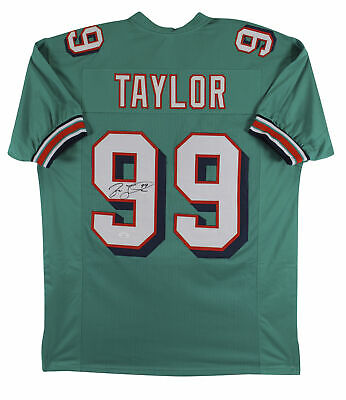 $ CDN144.11 • Buy Jason Taylor Authentic Signed Teal Pro Style Jersey Autographed JSA Witness