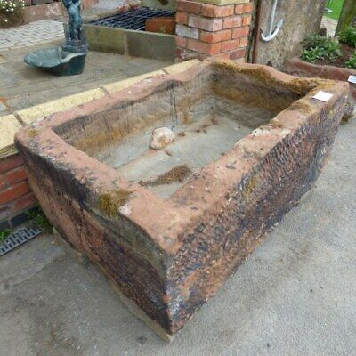 £2995 • Buy Large Hand Carved Reclaimed Sandstone Trough Planter Rwi4051