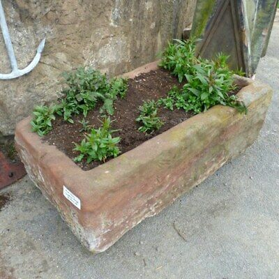 £1800 • Buy Large Hand Carved Reclaimed Sandstone Trough Planter Rwi4067
