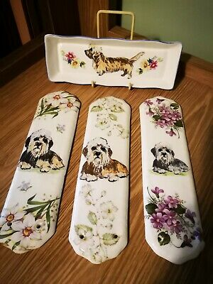 Dandie Dinmont Terrier Door Plates And Key Tray By Sylvia Smith - M3 • 30£
